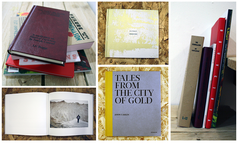 IMAGE: Selected titles include: Mila Teshaieva, Promising Waters // Jason Larkin, Tales from the City of Gold // Billy Childish, The Stonemason // Liv Bugge, You Make me Want to Die in the Countryside // Michalis Pilcher, Twentysix Gasoline Stations // Freddy Dewe Mathews, A Cultural History of an Isolated Landmass // Cabinet issue 48 (Trees)