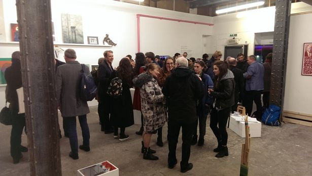 Visitors to the final exhibition at The NewBridge Project, Norham House