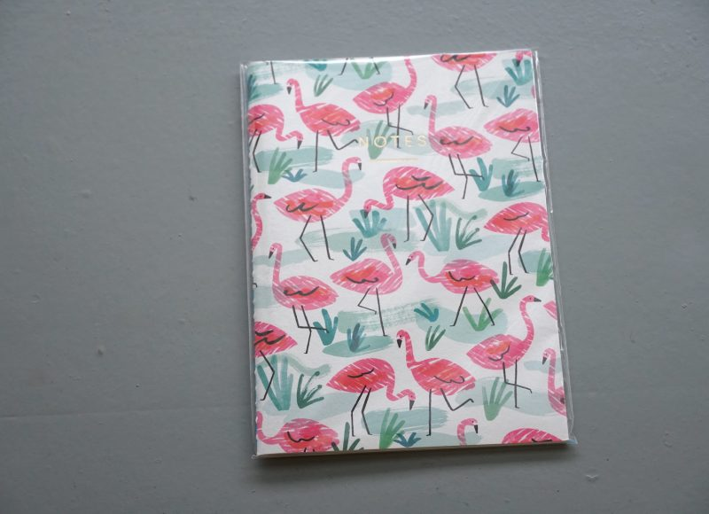 Flamingo Print Notebook