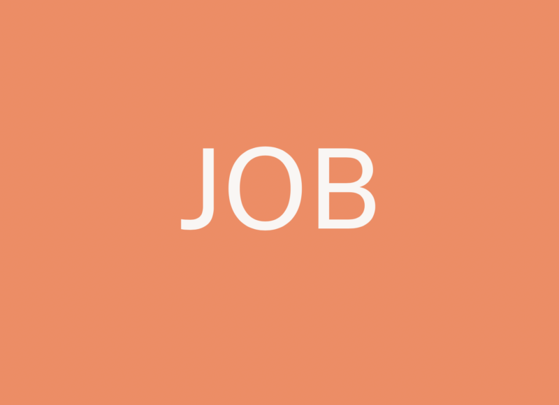 white writing saying job in the centre of an orange background