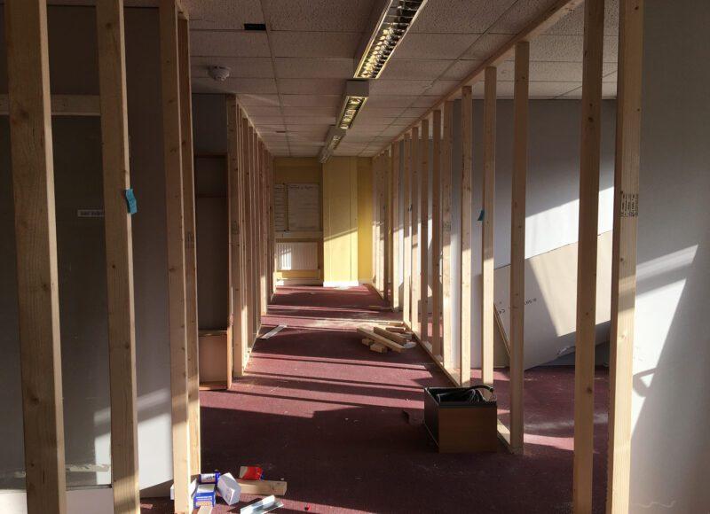 A photo of the building progress in The Shieldfield Centre